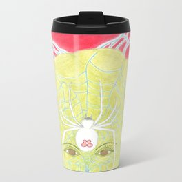 Meditative Mama Series~ White Widow~ Metal Travel Mug