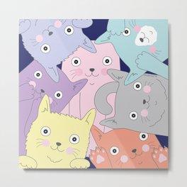 Curious Cats Metal Print
