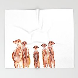 Peerkats Throw Blanket