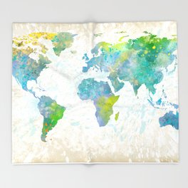 the world Throw Blanket