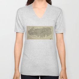 The Great Smoky Mountains National Park Map (1935) Unisex V-Neck