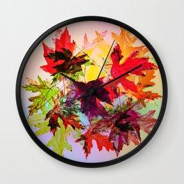 fallen leaves II Wall Clock