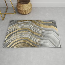 Abstract paint modern Rug