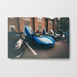 Blue Aventador SV Metal Print