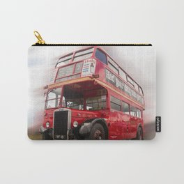 Old Red London Bus Vintage transport Carry-All Pouch