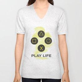 play life Unisex V-Neck