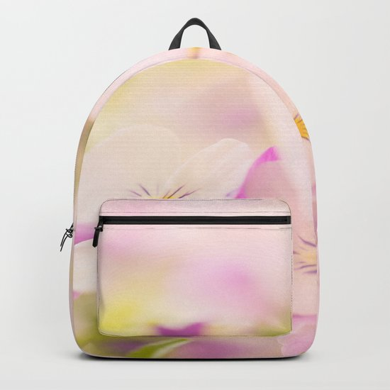 Something delicious and soft - violets in pastel colors - #Society6 #buyart Backpack