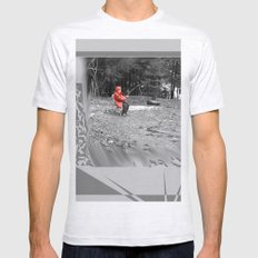 Sad Child SMALL Ash Grey Mens Fitted Tee