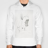 moby dick Hoodies featuring Moby dick  by JackOfAll
