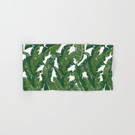 Leaves Bananique in White Shell Hand & Bath Towel