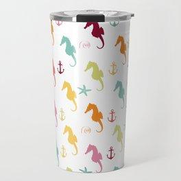 AFE Colorful Seahorse Pattern Travel Mug