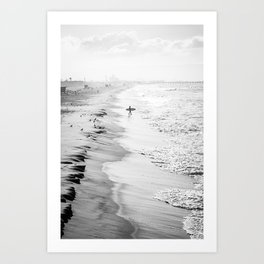 Morning Surfer Manhattan Beach Art Print