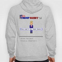 Trump Quest '16 Adventure Game T-Shirt - Retro Computer Game Hoody