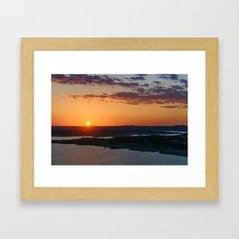 Calming warm sunset Framed Art Print