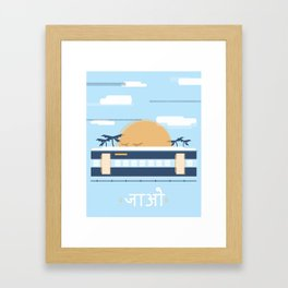 India Rail Framed Art Print