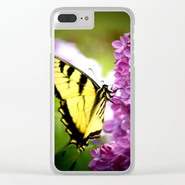 Swallowtail Lilac Clear iPhone Case