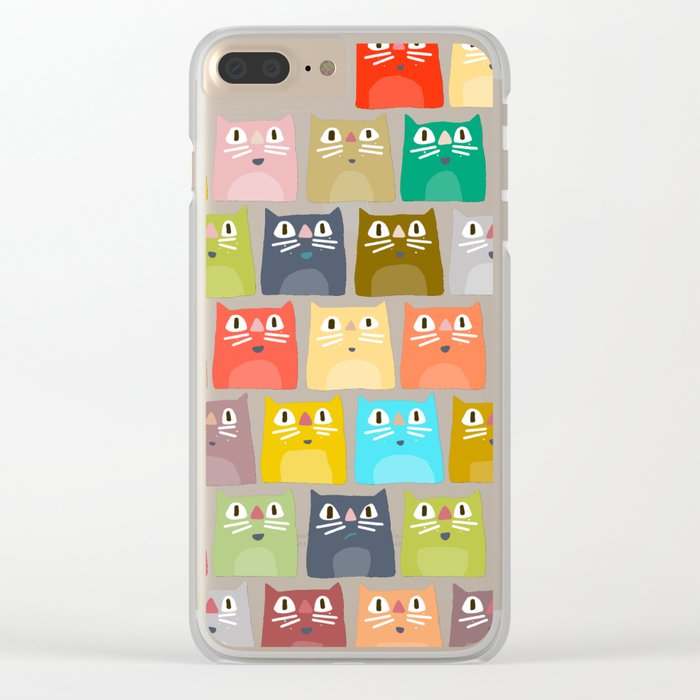 summer cats Clear iPhone Case