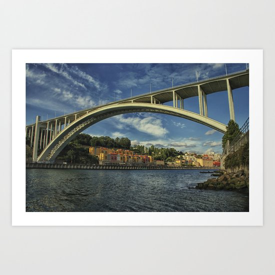 Arrábida bridge. Porto, Portugal Art Print