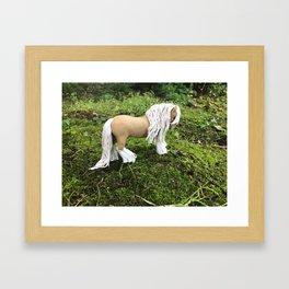 Golden Palomino Gypsy Vanner Horse Framed Art Print