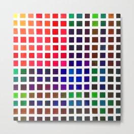 Vibrant Watercolor Tile Pattern Metal Print