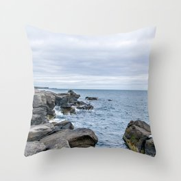 Icelandic Shore Throw Pillow