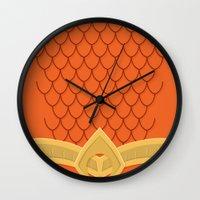 aquaman Wall Clocks featuring I Am Aquaman by Alex Boatman