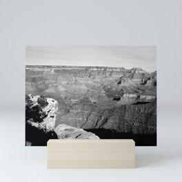 The Grand Canyon in Black and White Mini Art Print