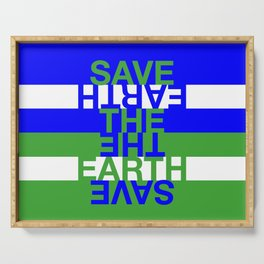 Save the Earth Serving Tray