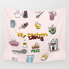 My kitchen story Wall Tapestry