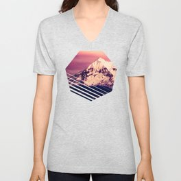 Mt Hood Mountain with Snow Unisex V-Neck