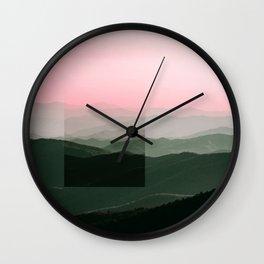 Pink Ridges Wall Clock