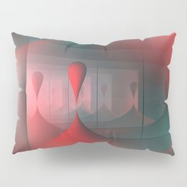 mirrored globs red and green Pillow Sham