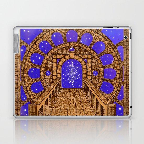 orvio illuminated space mandala Laptop & iPad Skin