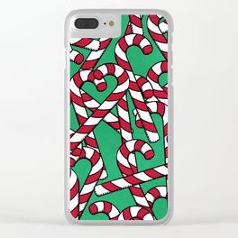 Candy Canes Clear iPhone Case