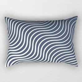 Whiskers - Navy #583 Rectangular Pillow