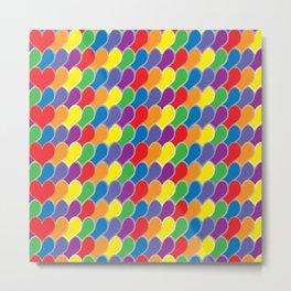 Pride Heart Scale Pattern Metal Print