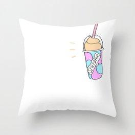 Slurp Me Throw Pillow