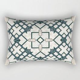 Victorian Art Deco Medieval Pattern light gray SB22 Rectangular Pillow