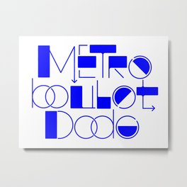 Subway, Work, Sleep (FR) Metal Print