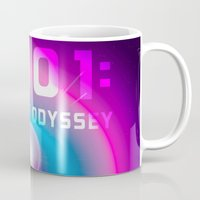 2001 Mugs featuring 2001 a Space Odyssey by Scar Design