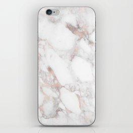 Rose Gold Marble Blush Pink Metallic Foil iPhone Skin