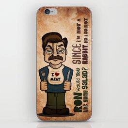 Ron Swanson 2 iPhone Skin