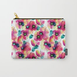 happy floral Carry-All Pouch