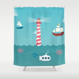 Beside the Seaside Shower Curtain