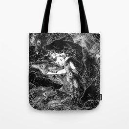 The Child Sleeps (B&W) Tote Bag