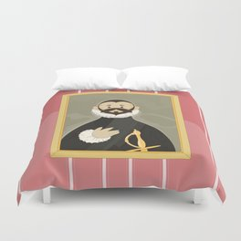 Nobleman with his Hand on his Chest by Greco Duvet Cover