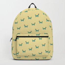 Dinosaur on retro skateboard Backpack