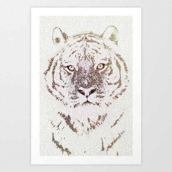 The Intellectual Tiger Art Print