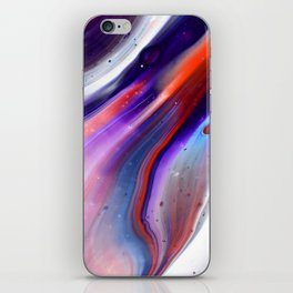 Applause Flow - Vibrant Colorful Rainbow Acrylic Fluid Painting Swirls Blue Red Purple iPhone Skin