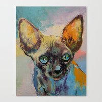 sphynx Canvas Prints featuring Sphynx by Michael Creese
